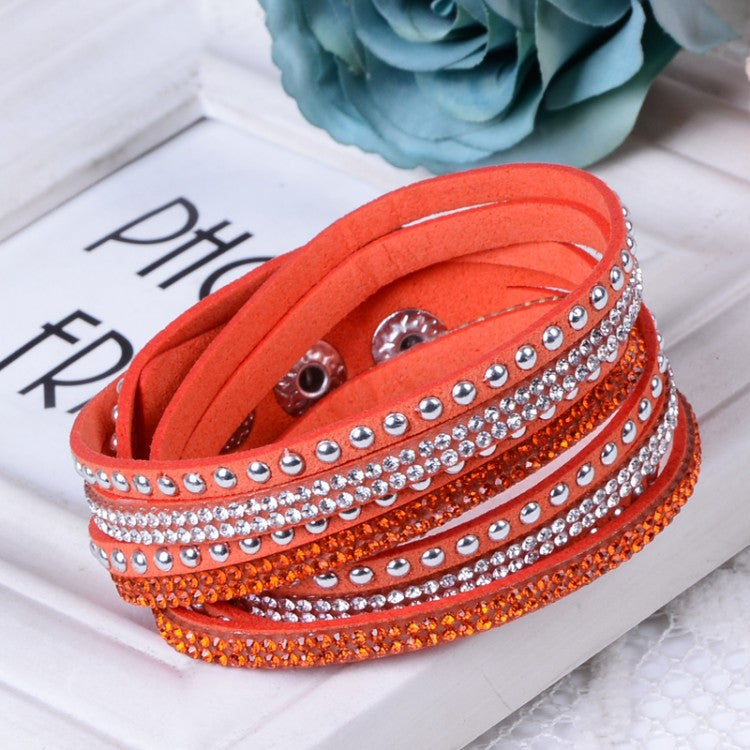 Women Multilayer Leather Bracelet Christmas Gift Charm Bracelets Vintage Jewelry For Women Pulsera