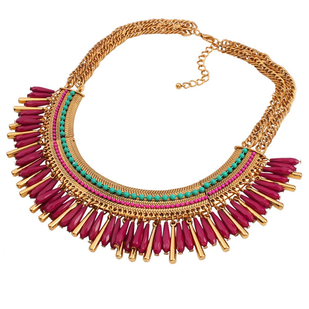 New Vintage Necklace Colares Femininos Maxi Collier Collar Choker Statement Necklaces For Women