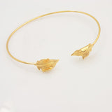 New fashion accessories jewelry copper leaf cuff bangle for women girl nice gift