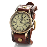 New fashion big sport quartz wristwatches mens women's luxury brand retro style Genuine leather watches