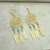 New fashion jewelry vintage silver plated Dream catcher drop dangle earring gift for women girl