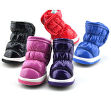 Pet Small Dog Space Leather Ruffle Shoes Winter Warm Waterproof Anti-slip Booties Boots Shoes