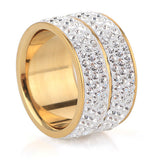 New 18K Gold Plated Classic design Crystal Jewelry Wedding Rings For Women Jewelry