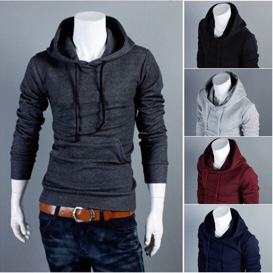New Autumn Slim Fit Men Hoodies Mens Sports Casual Sweatshirt Jackets Outerwear Fashion Men's Pullover 5 Color
