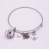 New Alex Charm Bracelets Bracelets & Bangles Summer Style Setting Crystal Disc LOVE Bangles For Women Gift Jewelry