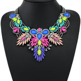 New Arrival Colorful Maxi Vintage Necklaces& Pendants Fashion Women Choker Statement Necklace Selfdom Jewelry Accessories