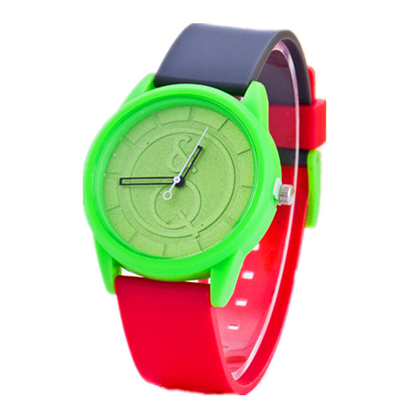 New Arrival Cute Candy Color Silicone Women Watch Generous Brand Dress Wristwatch Quartz Fashion Casual Watch Relogio Clock