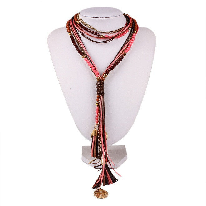 New Arrival Facet Beads Multi layer Long Jewelry for Women