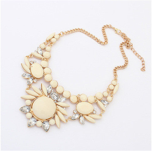 New Arrival Fashion Jewelry Trendy Women Necklaces & Pendants Link Chain Short Statement Necklace Resin Pendant For Gift