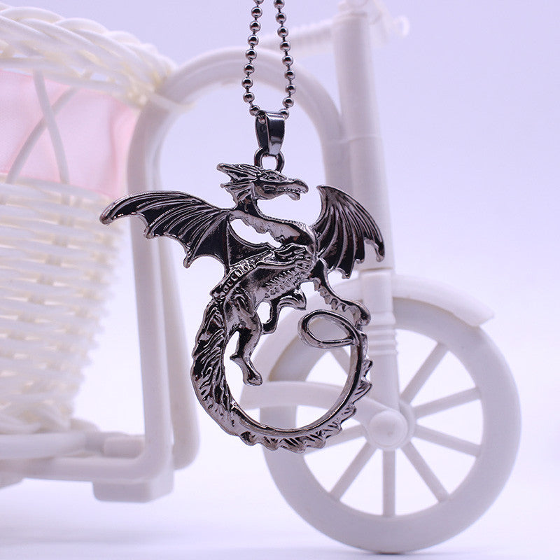 New Arrival Jewelry High quality Song Of Ice And Fire Necklace Game Of Thrones Necklace Targaryen Dragon Badge Necklace