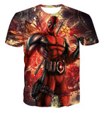 New Arrive American Comic Badass Deadpool T-Shirt Tees Men Women Cartoon Characters 3d t shirt Funny Casual tee shirts tops