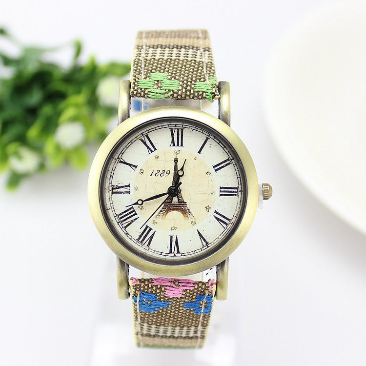 New Arrive Bohemia Vintage Women Watch Fashion Leather Sport Quartz Watch Cartoon Women Dress Watches Brass Clock Relojes Mujer