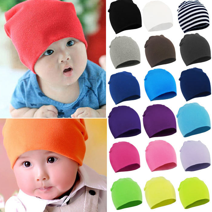 New Autumn Winter Warm Cotton Baby Hat Girl Boy Toddler Infant Kids Caps Brand Candy Color Lovely Baby Beanies Accessories