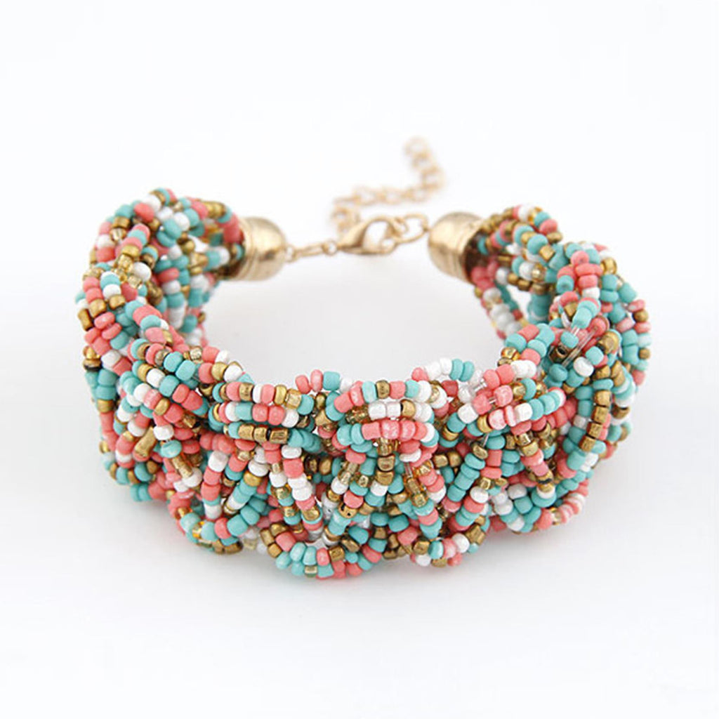 Fashion Bohemia Retro Bracelet For Women Pure Handmade Bead Multicolor Charm Vintage Cuff Bracelets & Bangles Fine Jewelry