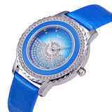 New Brand High Quality Japan Movement Watches For Women Leather Analog Diamond Watches Ladies Wristwatch Gift