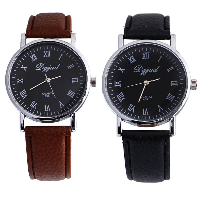 Business Casual Dress Watches Men PU Leather Quartz Military Watch Luxury Brand WristWatch relojes hombre Clock