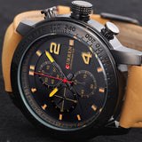 New Curren Watches Men Quartz Hour Clock Leather Strap Sports Men Dress Wrist Watch Luxury Brand Casual Watches