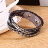 New Fashion 6 Layer Leather Bracelet! Factory Discount Prices Charm Bracelet