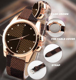 New Fashion Brand Grid Leather Strap Watch Quartz Watches women casual watches ladies wristwatch women dress watches
