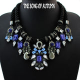New Fashion Brand Jewelry Rhinestone Statement Necklaces & Pendants Necklace Women Gift