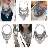New Fashion Hot Sale Vintage Boho Crystal Collares Statement Necklaces & Pendants Long Choker Maxi Necklaces Women Jewelry