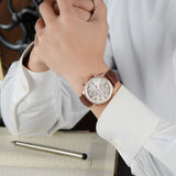 New Fashion Luminous Leather Strap Multifunction Watches Men Quartz Watch Waterproof Wristwatches Male Table Relojes