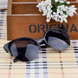 New Fashion Men Women Retro Cat Eye Semi-Rim Round Sunglasses Stylish Eyewear Eyeglasses