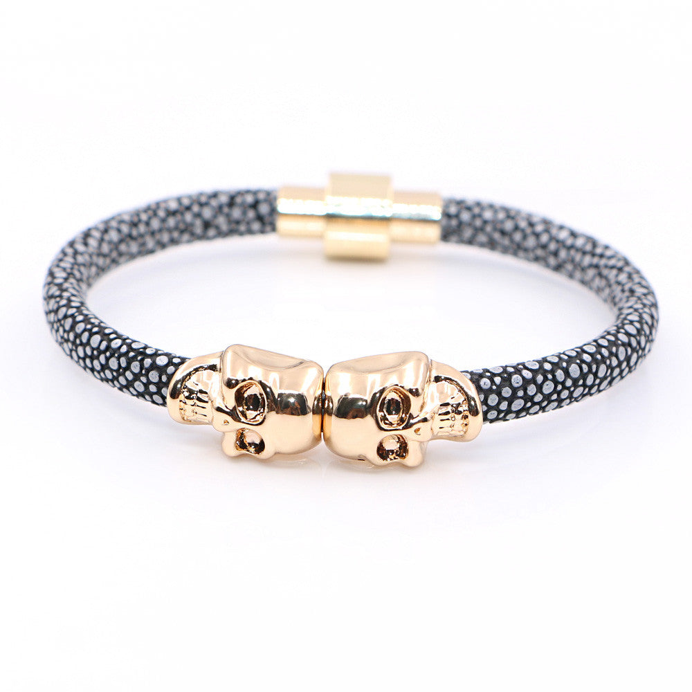 gold black bracelet with matte onyx onyxgold en northskull north bracelets jewelry men skull crystal