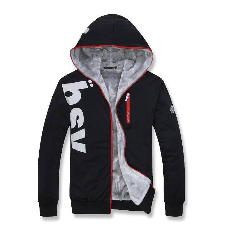 New Fashion Slim Mens Hoodies and Sweatshirts Good Quality Coral Fleece Lining Hoodies Men Thick Plus Size