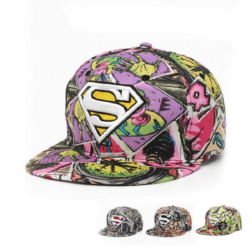 New Fashion Superman Snap Back Snapback Caps Hat Cool Adjustable Gorras Super Man Hip Hop Baseball Cap Hats For Men Women