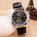 New Fashion Watch Men Geneva Leather Strap Casual Wristwatch British Style Business Watch Masculino Quartz Relogio Clock
