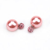 New Fashion jewelry double pearl earrings brincos candy color earrings for women pendientes trendy stud earrings