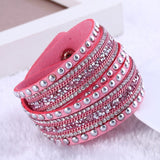 New Fashion leather bracelet Multilayer Rivet Bracelets For Women Bracelets & Bangles pulseras