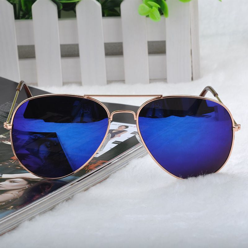 New Fashion sun glasses Goggle Metal Eyewear Bat Mirror UV Protection Multi Color for Unisex