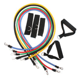 11 Pcs Resistance Bands Set Tube Gym Exercise Set Yoga Fitness