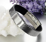 New Hot Fashion Fine Jewelry Stainless Steel Pu Leather Bracelet Men Silver Bracelets Bangle For Men Gift