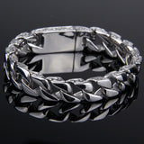 New Hot Sales Titanium Steel Men's Charm Bracelets Retro High Quality Mens Bracelets Cool Male Biker Jewelry Accessories