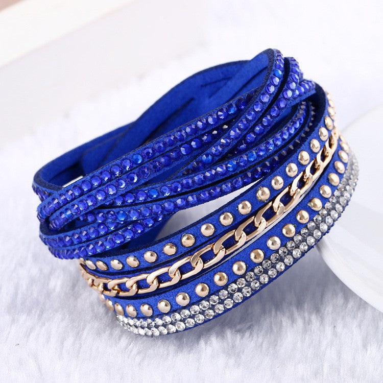New Hot Selling Fashion Leather Bracelet! Charm Bracelets Bangles For Women !Buttons Adjust Size