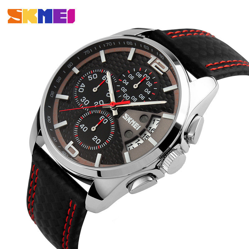 New Luxury Brand Men Sports Watches Fashion Business Quartz Watch Male Leather Strap Military Army Waterproof Wristwatches