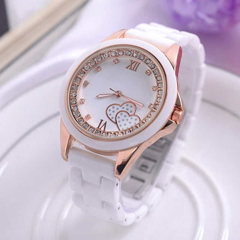 New Luxury Fashion Ladies Quartz Ceramic Watch Women Date Clock Female Wrist Casual Dress Watch Rose Gold Relogio Feminino