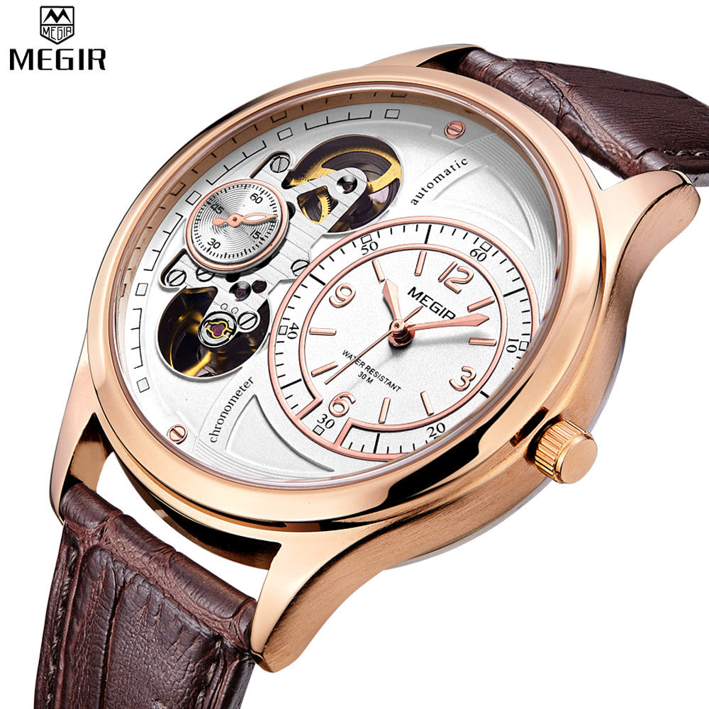 New Luxury Rose Gold Clock Men Hollow Automatic Watch Military Sport Watch Mechanical Relogio Male Montre Watch Men Relojes