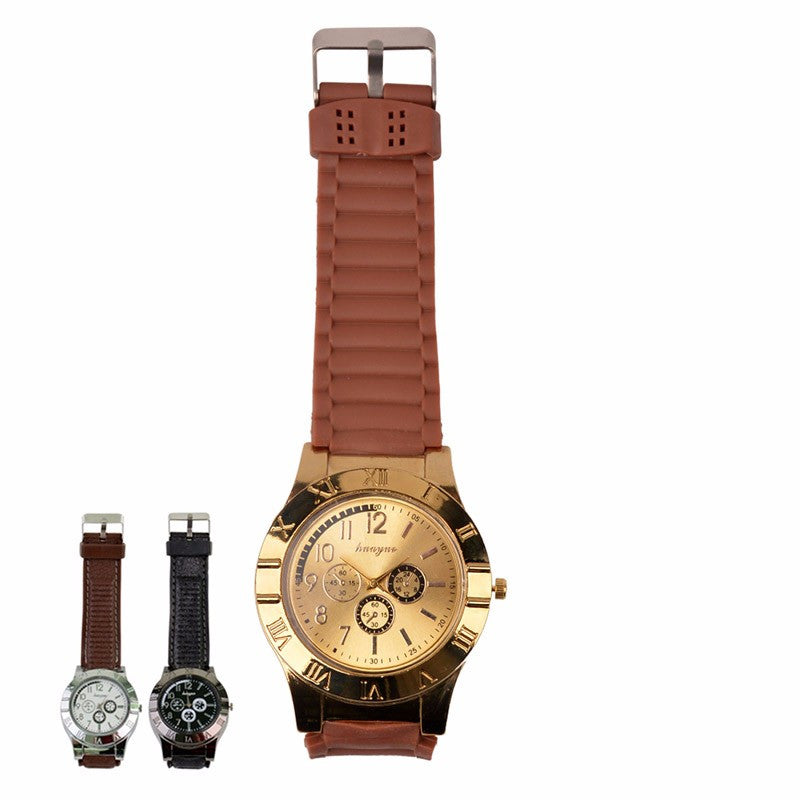New Military Electronic Lighter Usb Quartz Watch Man Quartz Sports Cigarette Lighter Men Watches