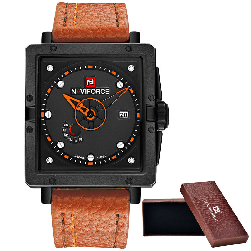 New NAVIFORCE Fashion Watches Men Luxury Brand Men's Quartz Watch Date Waterproof Sport Man Clock Army Military Wrist Watch