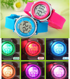 New SKMEI popular Brand children kids fashion Sports Watches Digital LED Wristwatches green blue white black rubber strap