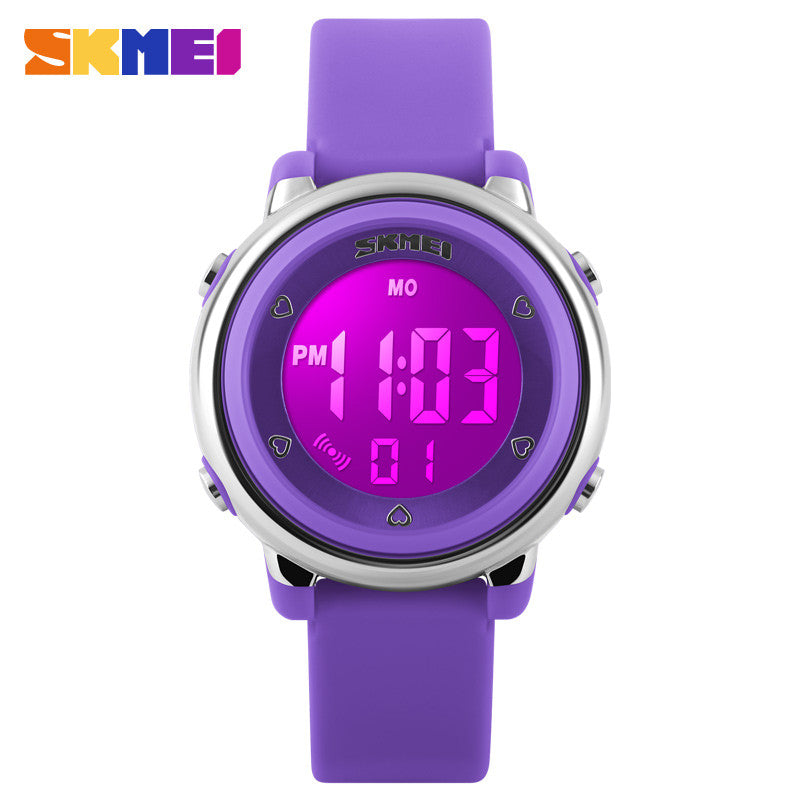 SKMEI Girl Watch Kids Boy children Watch LED Digital Wrist Sports Watch LED Waterproof Watch Fashion Colorful Jelly Rubber