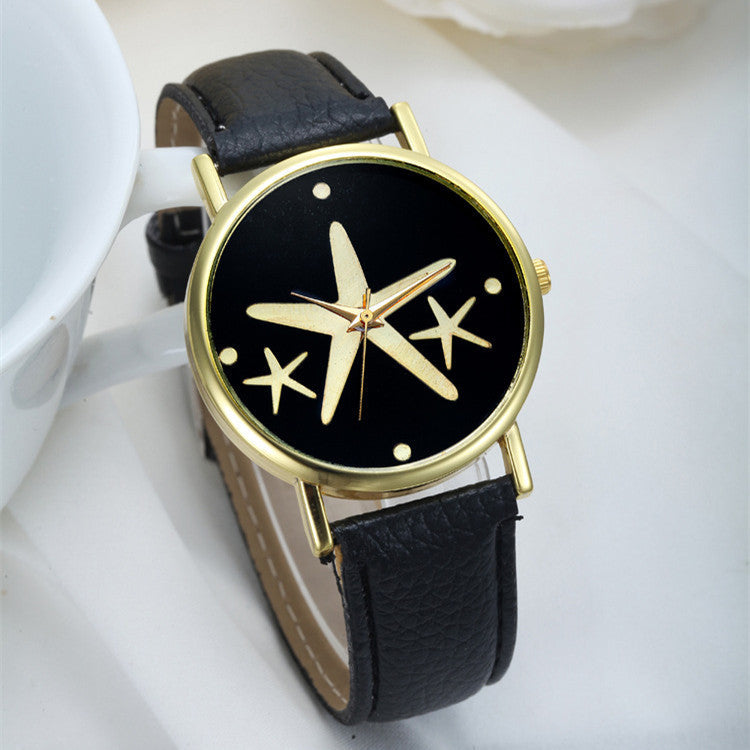 New Simple Style Women Casual Wristwatch Fashion Snowflake Leather Quartz Watch Ladies Dress Watch Relogio Feminino Clock