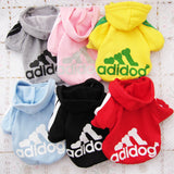 New Soft Cotton Cat Dog Clothes Pet Hoodie Coat Fashion Adidog Costume Warm Sweater Clothing for Small Dogs