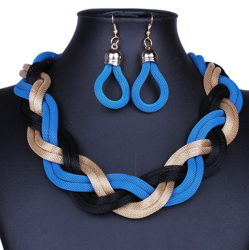 New Statement Necklace Vintage maxi Necklace jewelry Metal Choker Necklace Women Chunky Chain
