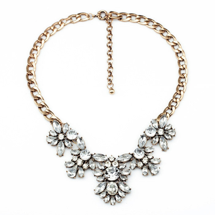 New Styles Collares Fashion Jewelry Resin Stone Antique Bib Statement Necklace