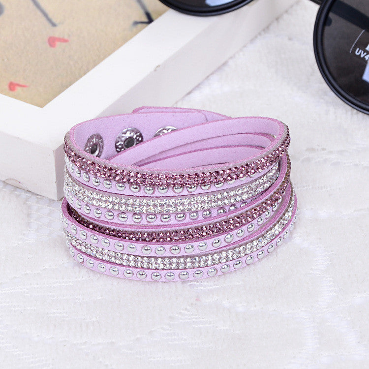 New Unisex Multilayer Leather Bracelet Christmas Gift Charm Bracelets Vintage Jewelry For Women Pulsera